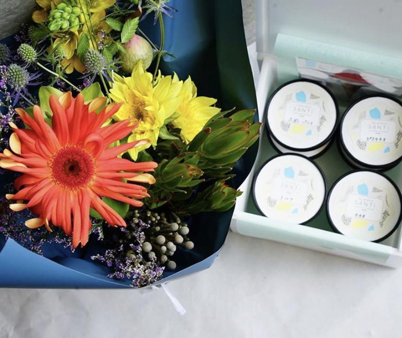【父の日ギフトgui flower design×GELATERIA SANTi  ご案内。】